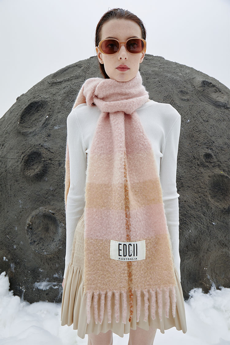 奶茶樱花粉棉花糖羊毛围巾