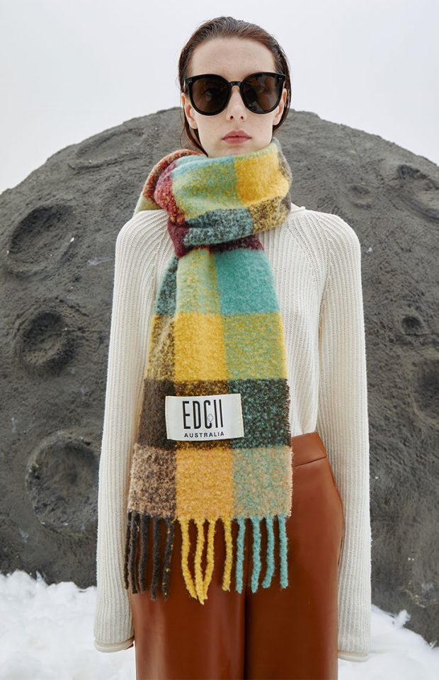 神秘绿洲棉花糖羊毛围巾