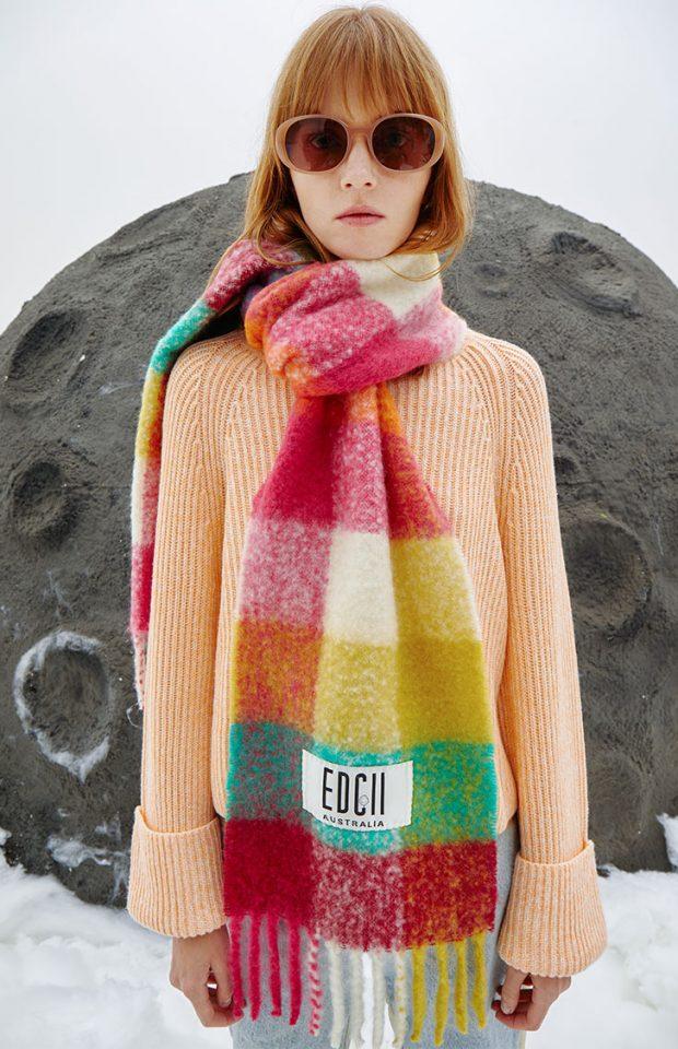 霓虹棉花糖羊毛围巾