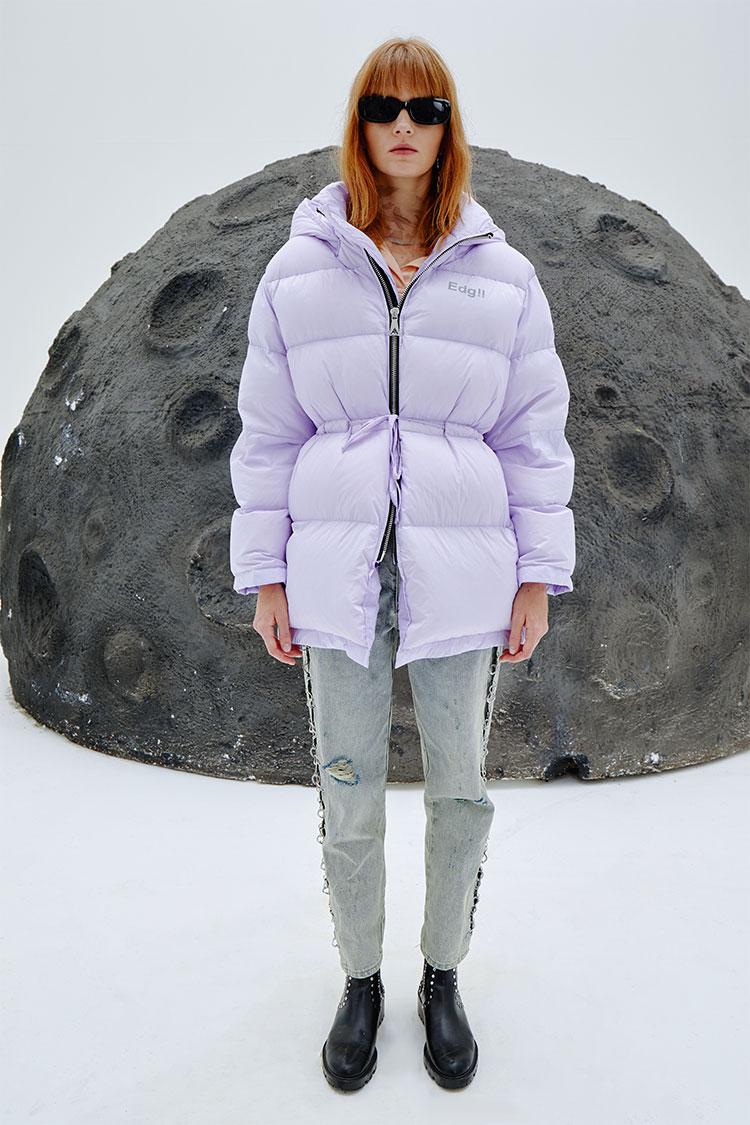 收腰太空面包服紫色
