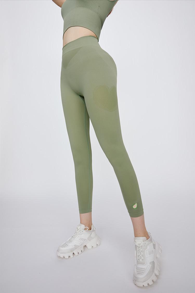 """""""心动""""牛油果美白瘦腿裤绿色均码"""