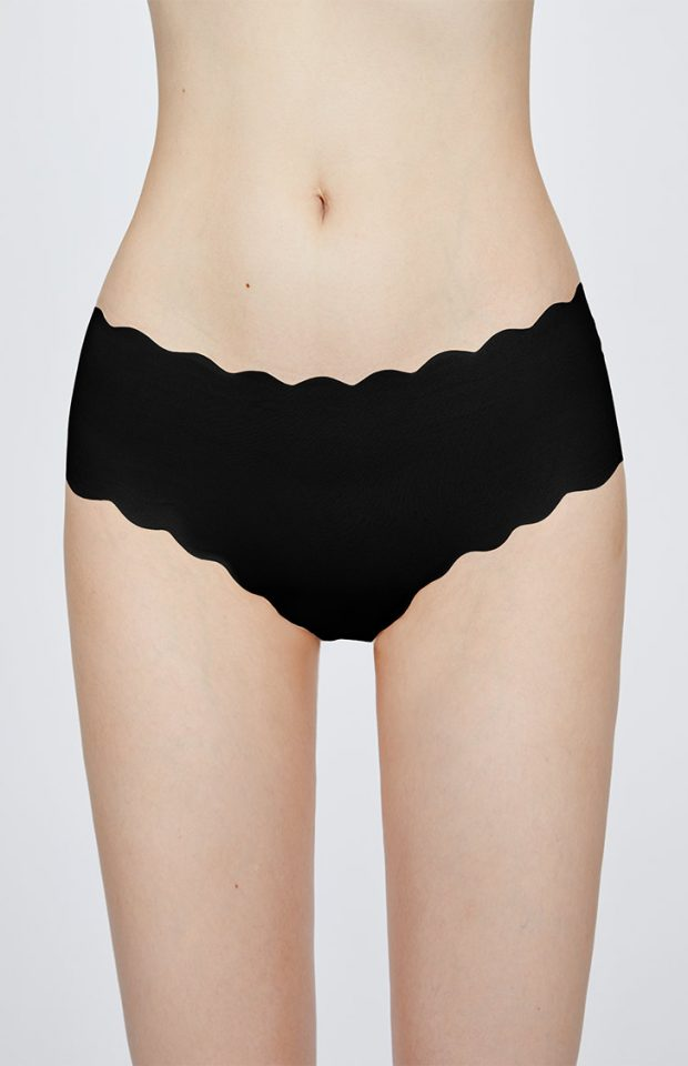 牛油果花瓣无痕倍润内裤黑色