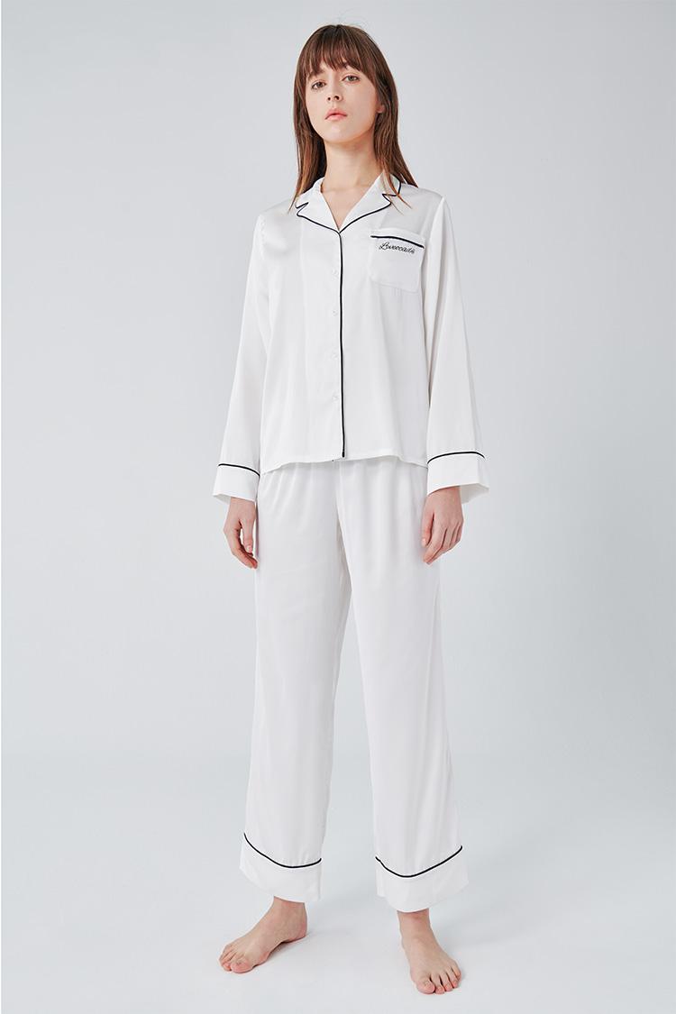 牛油果倍润睡衣套装白色