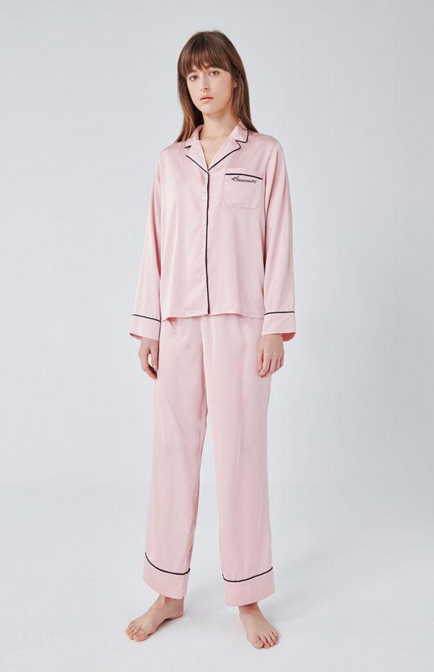 牛油果倍润睡衣套装粉色