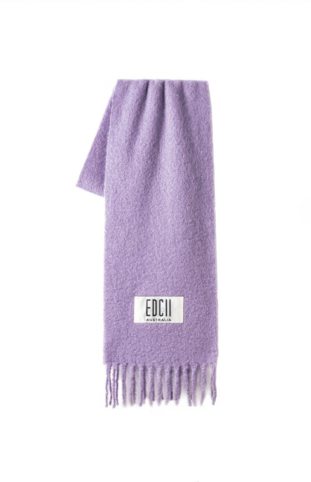 雾霾紫棉花糖羊毛围巾