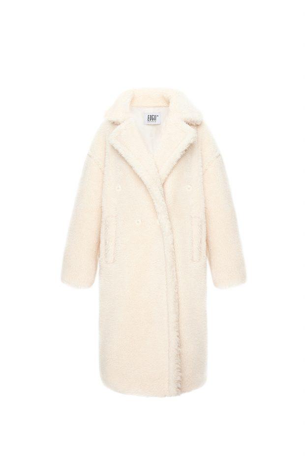 经典泰迪羊毛大衣米色