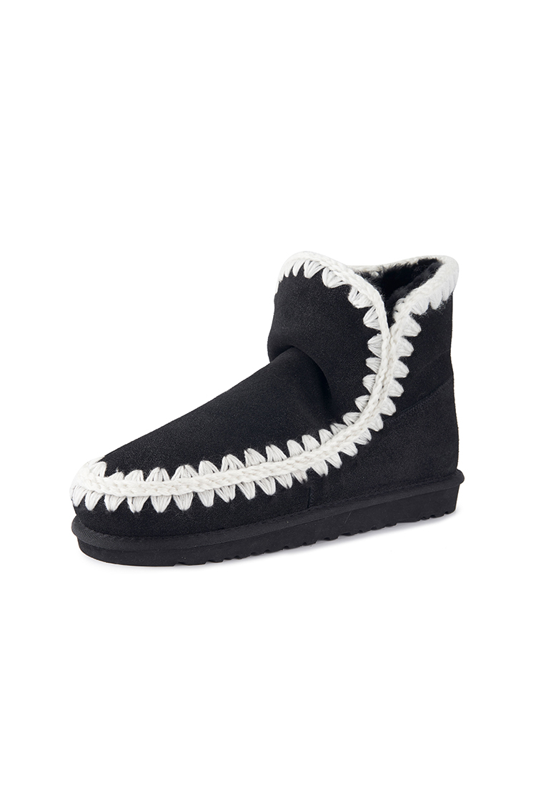 云朵皮质雪地靴