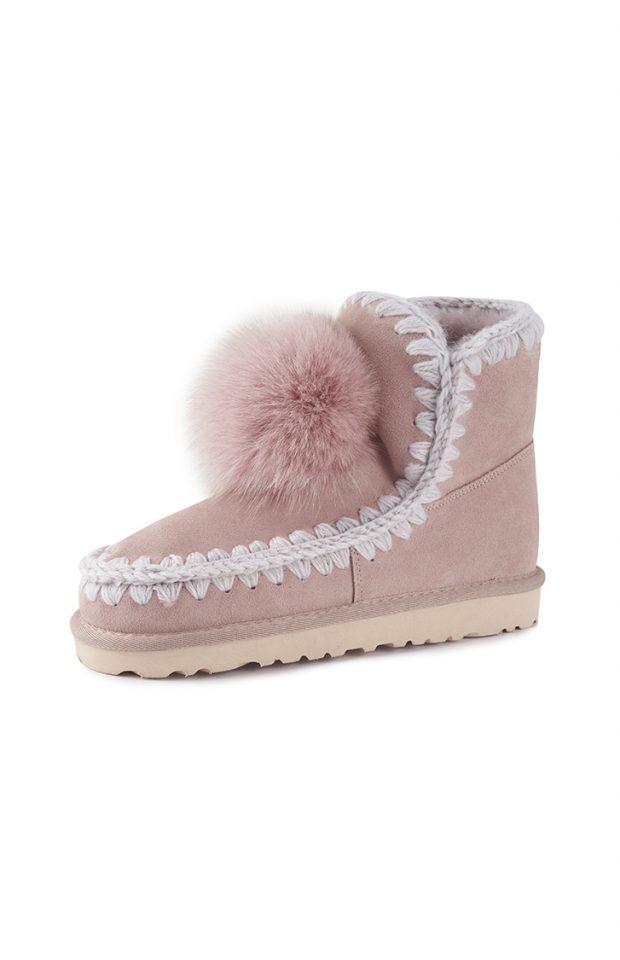 云朵毛球雪地靴